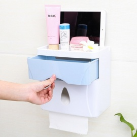 Creative And Multi-Functional Household Toilet Paper Extraction Box With Simple Three-In-One Double-Layer Drawer Paper Towel Box