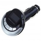 "1.0"" LCD MP3 Player FM Transmitter with Remote Controller/SD/TF Slot - Black + Silver"