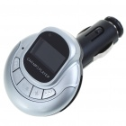 "1.0"" LCD MP3 Player FM Transmitter with Remote Controller/SD/TF Slot - Silver"