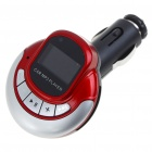 "1.0"" LCD MP3 Player FM Transmitter with Remote Controller/SD/TF Slot - Red + Silver"