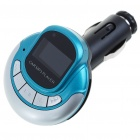 "1.0"" LCD MP3 Player FM Transmitter with Remote Controller/SD/TF Slot - Blue + Silver"