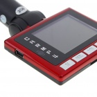 "1.8"" LCD MP3/MP4 Player FM Transmitter with Remote Controller & TF Slot - Black + Red (2GB)"
