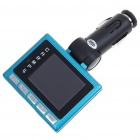 "1.8"" LCD MP3/MP4 Player FM Transmitter with Remote Controller & TF Slot - Black + Blue (2GB)"