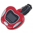 "1.0"" LCD MP3 Player FM Transmitter with Remote Controller/SD/TF Slot - Black + Red"