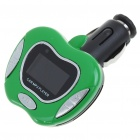"1.0"" LCD MP3 Player FM Transmitter with Remote Controller/SD/TF Slot - Black + Green"