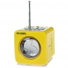 Stylish Portable MP3 Music Speaker with FM Radio/SD Slot/USB Host/Multi-Color LED - Yellow