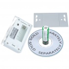 Auto PIR Keyhole IR Sensor Cool White Light 4-LED Lamp (1*AA)