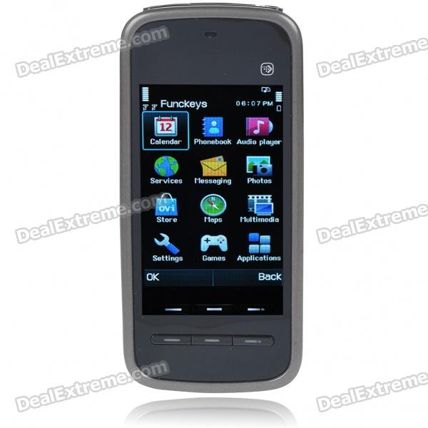 "5230 3.0"" Touch Screen Dual SIM Dual Network Standby Dualband GSM Cell Phone w/ FM +JAVA - Black"
