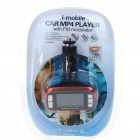 "1.8"" TFT LCD MP3/MP4 Player FM Transmitter with Remote Controller/SD/TF Slot - Black + Red"