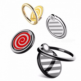 ROCK  Cell Phone Holder Universal Rotation Finger Ring Holder Magnetic Car Bracket Stand Phone Accessories Red
