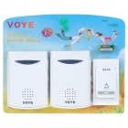 Wireless Remote Control Chime Door Bell with Double-Receiver (2*AA + 1*23A)