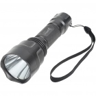 UniqueFire T6 XM-LT6 3-Mode 750-Lumen White LED Flashlight with Strap (1*18650)