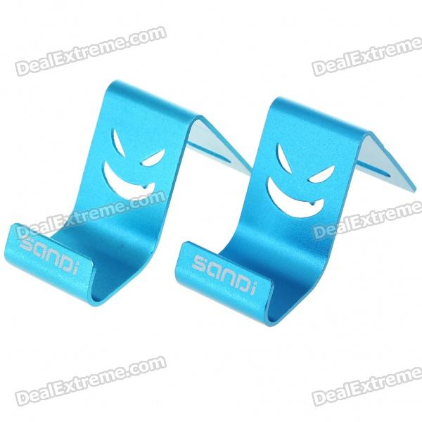 Mini Metal Stand Holder for Cell Phones - Blue (Pair) engineering plastic holder stand for cell phone tablet pc more orange