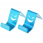 Mini Metal Stand Holder for Cell Phones - Blue (Pair)