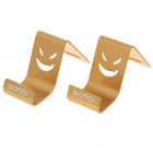 Mini Metal Stand Holder for Cell Phones - Golden (Pair)