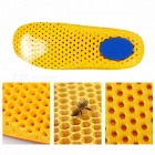 Unisex Mesh Footwear Shock Absorbable Sweat Deodorant Running Soccer Basketball Sport Pad Shoe Insoles ArmyGreen