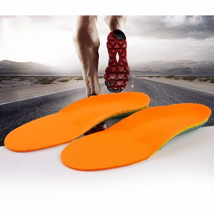 Breathable And Comfortable Shock-absorbing Insole Flat Foot Silicone Insole Non-slip Wear Eva Insoles Foot Care Light Green