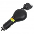 Car Cigarette Charger for iPod/iPhone 3G/3GS/4 - Black (DC 12~24V)