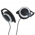 Ear Hook Style Headphones - Black + Silver (3.5mm Jack/80CM-Cable)