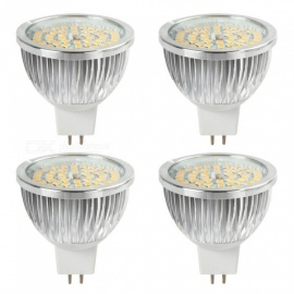 YouOKLight 6.5W MR16 LED Light Bulbs, GU5.3 Base 50W Equivalent Halogen Replacement Warm White 3000K 12V Spotlight, 4 Packs