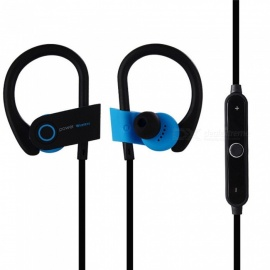 OJADE Sports Bluetooth Earphones Stereo Wireless Headphones with Mic Noise Cancelling Earbud - Blue