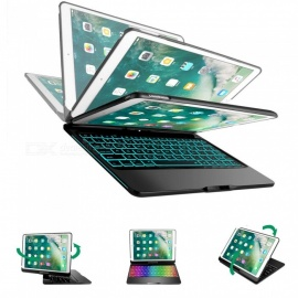 F360S Wireless Bluetooth Keyboard Case Aluminum for IPAD PRO 10.5 Inches 360 Degree Keyboard - Black