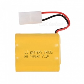 7.2V 700mAh Li-ion Rechargable Ni-CD AA*6 Model X Battery for RC Cars - Yellow