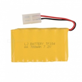 7.2V 700mAh Li-ion Rechargable Ni-CD AA*6 Model M Battery for RC Cars - Yellow