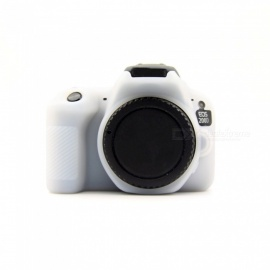 JEDX Soft Silicone Protective Case for Canon EOS 200D Camera - White