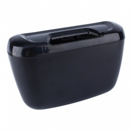 ZIQIAO Vehicle Car Auto Trash, Rubbish Can, Dust Garbage Bin, Storage Box Container - Black