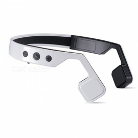 OJADE Bone Conduction Headset Wireless Bluetooth 4.0 Earphone Waterproof Neck-strap Outdoor Sport Headphone - White
