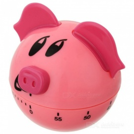 OJADE Creative Pig Shaped Mechanical Kitchen Timer 60 Minutes - Long Ring Chime