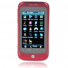 "F1 3.2"" Touch Screen Dual SIM Dual Network Standby Quadband GSM TV Cell Phone w/ WIFI+JAVA - Red"