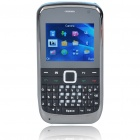 "E7 2.0"" LCD Tri-SIM Tri-Network Standby Quadband GSM TV Cell Phone with FM - Blue"