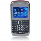 "E7 2.0"" LCD Tri-SIM Tri-Network Standby Quadband GSM TV Cell Phone with FM - Red"