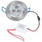 3W 300 Lumen 6500K Blanc LED plafonnier / Down Light avec LED Driver (CA 85 ~ 265V)
