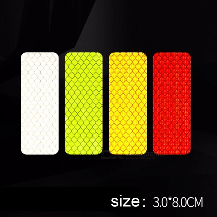 Diamond Grade Reflective Warning Strip Tape Car Reflective Strip Bar Secure Reflector Sticker Decal 2 Pcs Small Green