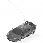 Cool R/C Model 1:32 Scale Plastic Racing Car - Dark Grey (3*AA/2*AA)