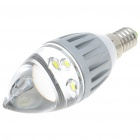 E14 270-Lumen 6500K 3-LED White Light Crystal Lamp Bulb (85~265V)