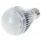 E27 5W 450-Lumen 6500K LED White Light Lamp Bulb with IR Remote Control (85~265V)