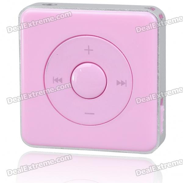 Stylish Mini USB Rechargeable MP3 Player - Pink (2GB)