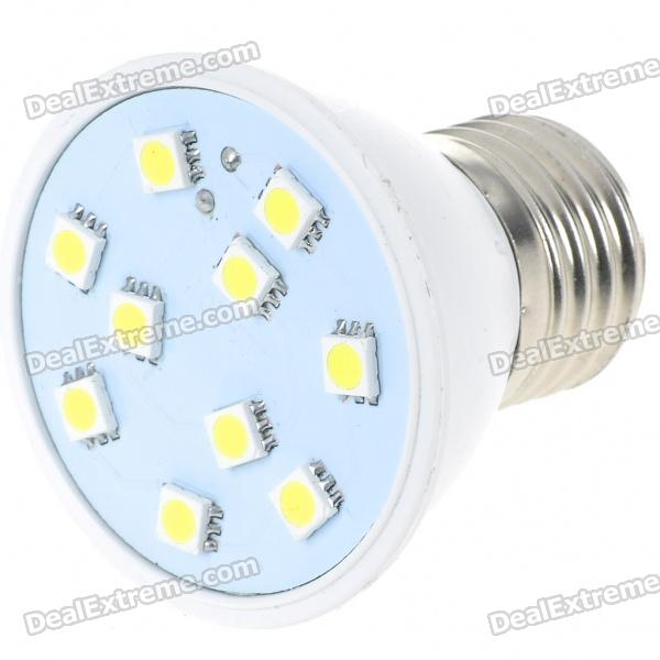 E27 200-Lumen 7000K 10-SMD 5050 LED White Light Lamp Bulb (220V)