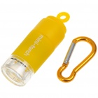 Mini Pocket USB Rechargeable White LED Light/Torch with Carabiner Clip - Yellow