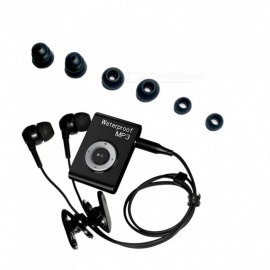 KELIMA Portable Sports Waterproof Lossless Player 8GB MP3 Player with Clip - Black