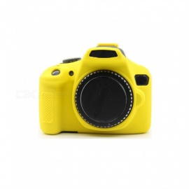 JEDX Soft Silicone Protective Case for Canon EOS 1300D 1500D Camera - Yellow