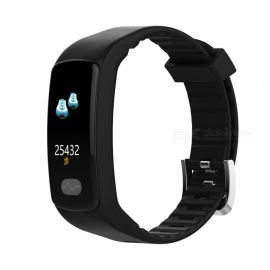 DMDG Smart Bracelet Fitness Tracker Heart Rate Monitor ECG/PPG Blood Pressure Waterproof Watch for IOS Android- Black