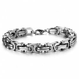 XSUNI Personality Trend Titanium Steel Domineering Men's Bracelet -  Steel Color