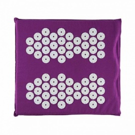 Acupressure Massage Colored Plastic Walk Pads Square Healthy Foot Massage Mat Yoga Cushion Purple Color