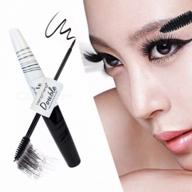 New Bright Eye Mascara + Eyeliner, Waterproof Sweat-proof Long Lasting Not Blooming Cosmetic Black