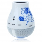 Porcelain China Vase Style Rechargeable MP3 Music Speaker with Micro SD/TF Card Slot